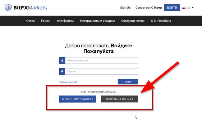 Bitfxmarkets регистрация тортового счета