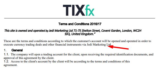Регистрация брокера tixfx